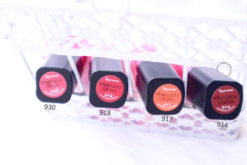 Swatch Loreal Paris Rouge Magique's Lipstick - Coral