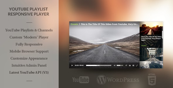 WordPress Responsive Youtube Playlist Video Player - WordPress Plugin