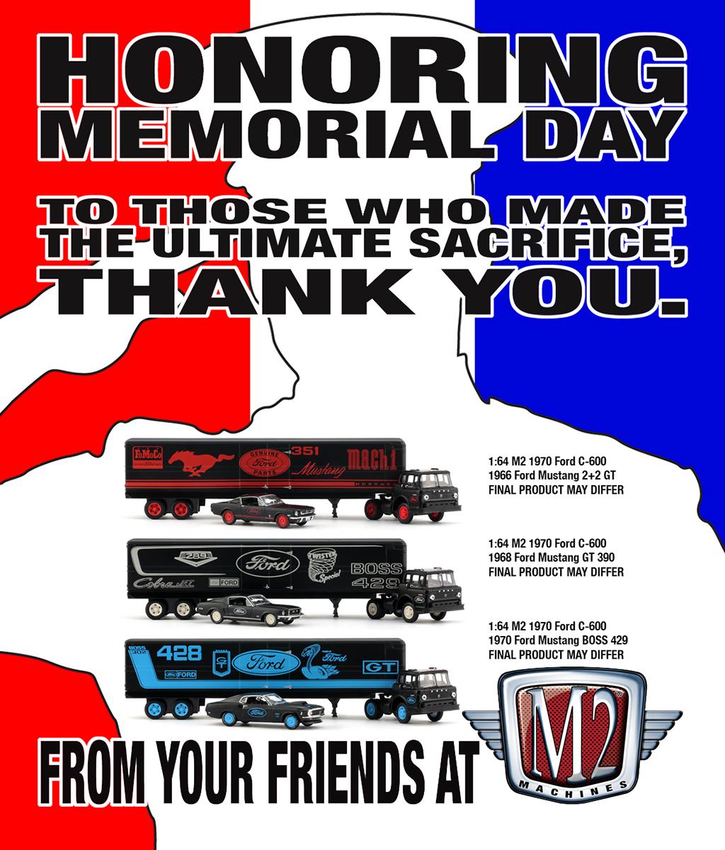 7526d660c0725  m2  m2machines  memorialday  sneakpeek  comingsoon  ford  mustang  truck   trailer  semi  fastback  fomoco  351  mach1  gt  390  289  cobrajet   BOSS429 ...