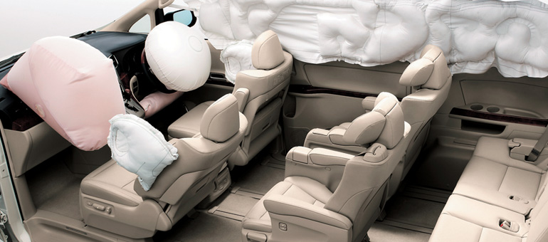 toyota alphard air bag system