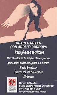 Charla-taller con Adolfo Córdova