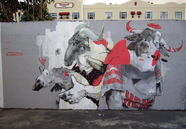 Street Art By Dutch Artist Joram Roukes In Miami For Art Basel 2013. 1