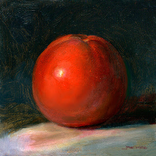 Tomato oil painting by Jeff Ward
