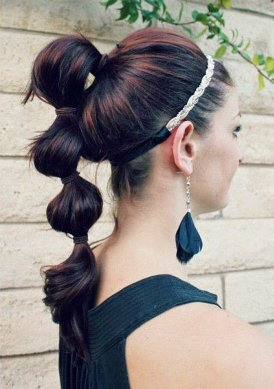 summer hair styles: Funky Ponytail