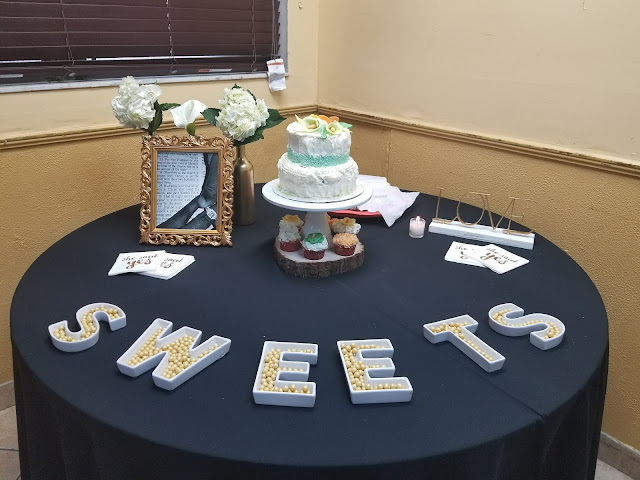 Bridal Shower sweets Table with Cake and Bible Verse