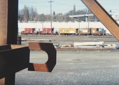Union Pacific Cabooses at Albina Yard in Portland, Oregon