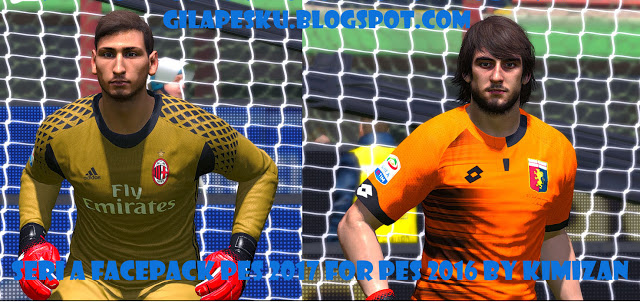 Serie A Facepack PES 2017 For PES 2016 - 180 Faces