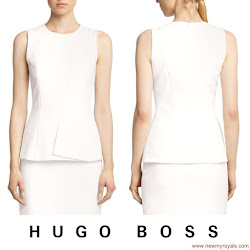 Queen Letizia Style HUGO BOSS Dress and FELIPE VARELA Bag