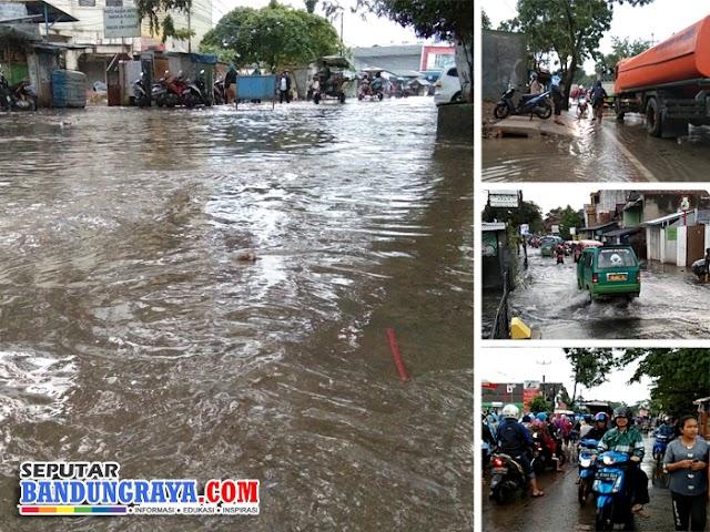 Diguyur Hujan Hingga Dini Hari, Bandung Selatan Dikepung Banjir