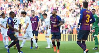 برشلونة يصالح جمهوره بالفوز على خيتافي