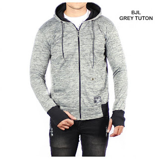 JAKET FLEECE PRIA BJL SOFT GREY TUTON