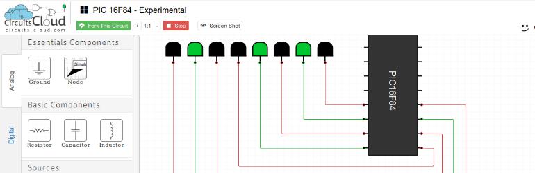 Circuits Cloud - Simples simulador de circuitos online e gratuito.