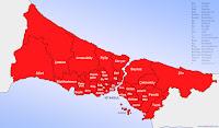 İstanbul ilinin ilçeleri haritası