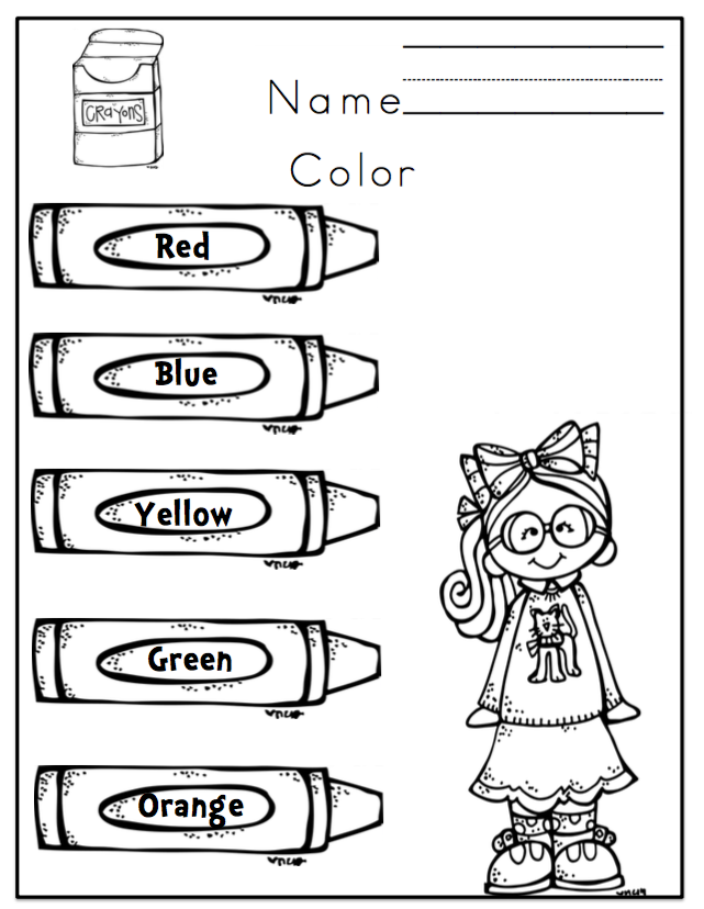 "Preschool Packet ""Learning Colors"" ~ Preschool Printables"