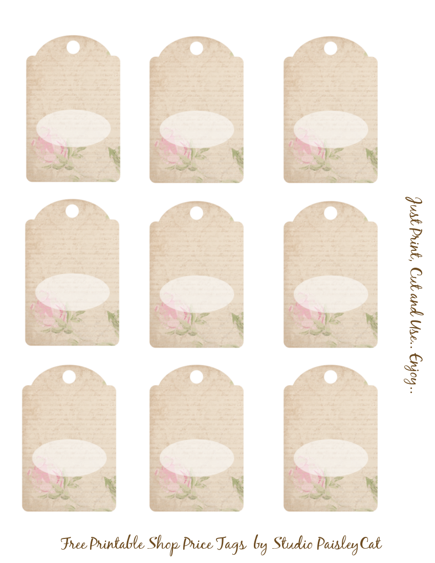 Studio paisleycat 39 s freebie blog free printable shop for Template for price tags