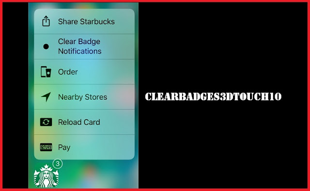 ClearBadges3DTouch10, a simpe cydia tweak that allows you to clear the badge counter on any app icon with 3D Touch gesture. Sometimes there are so many badges counter