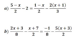 Ecuaciones con paréntesis y fracciones ejercicios