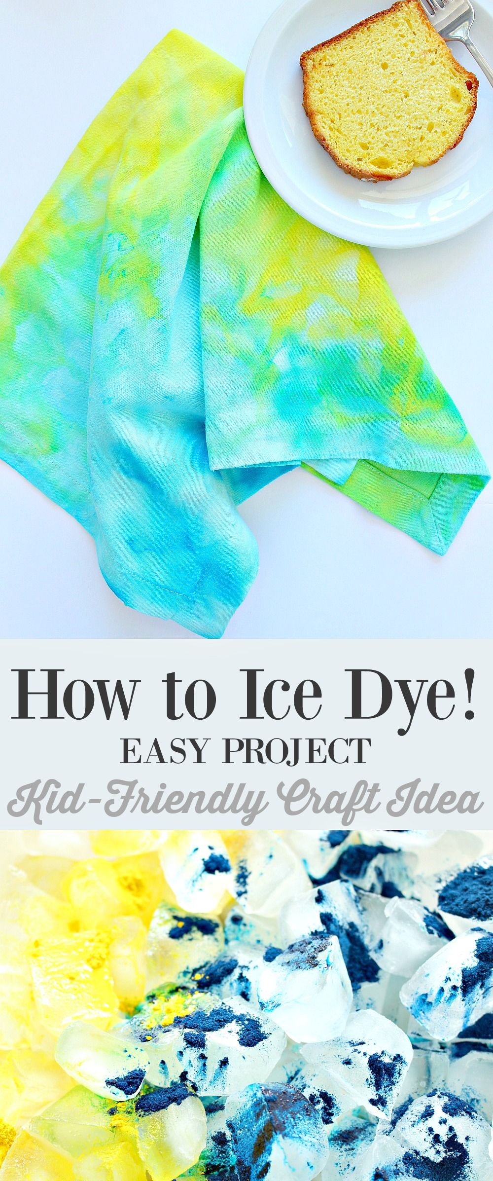 Ice dyeing instructions - Easy, kid-friendly craft idea!