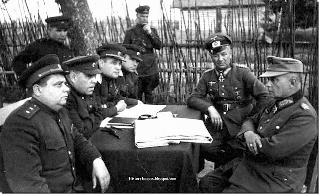 Questioning captured German officers