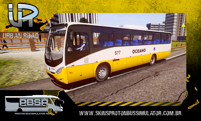 Skin Proton Bus Simulator Road - Ideale 770 OF-1721 BT5 Viação Oceano
