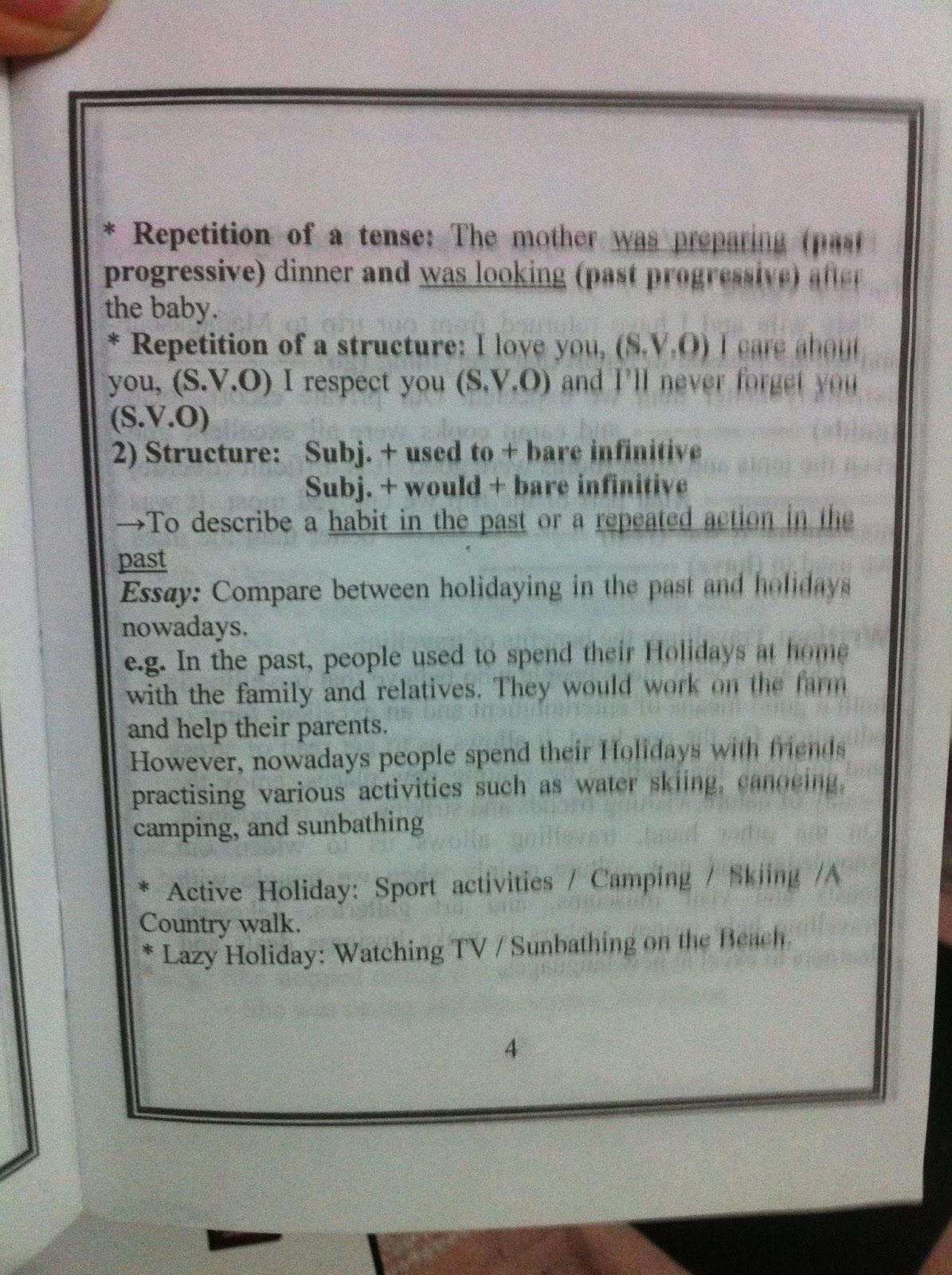 Bac Resume Anglais Bac