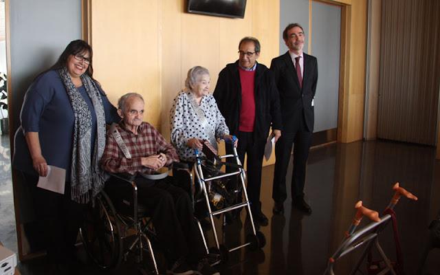 Representantes municipales durante el I aniversario de la residencia IMAGEN COMUNIACION ILLESCAS