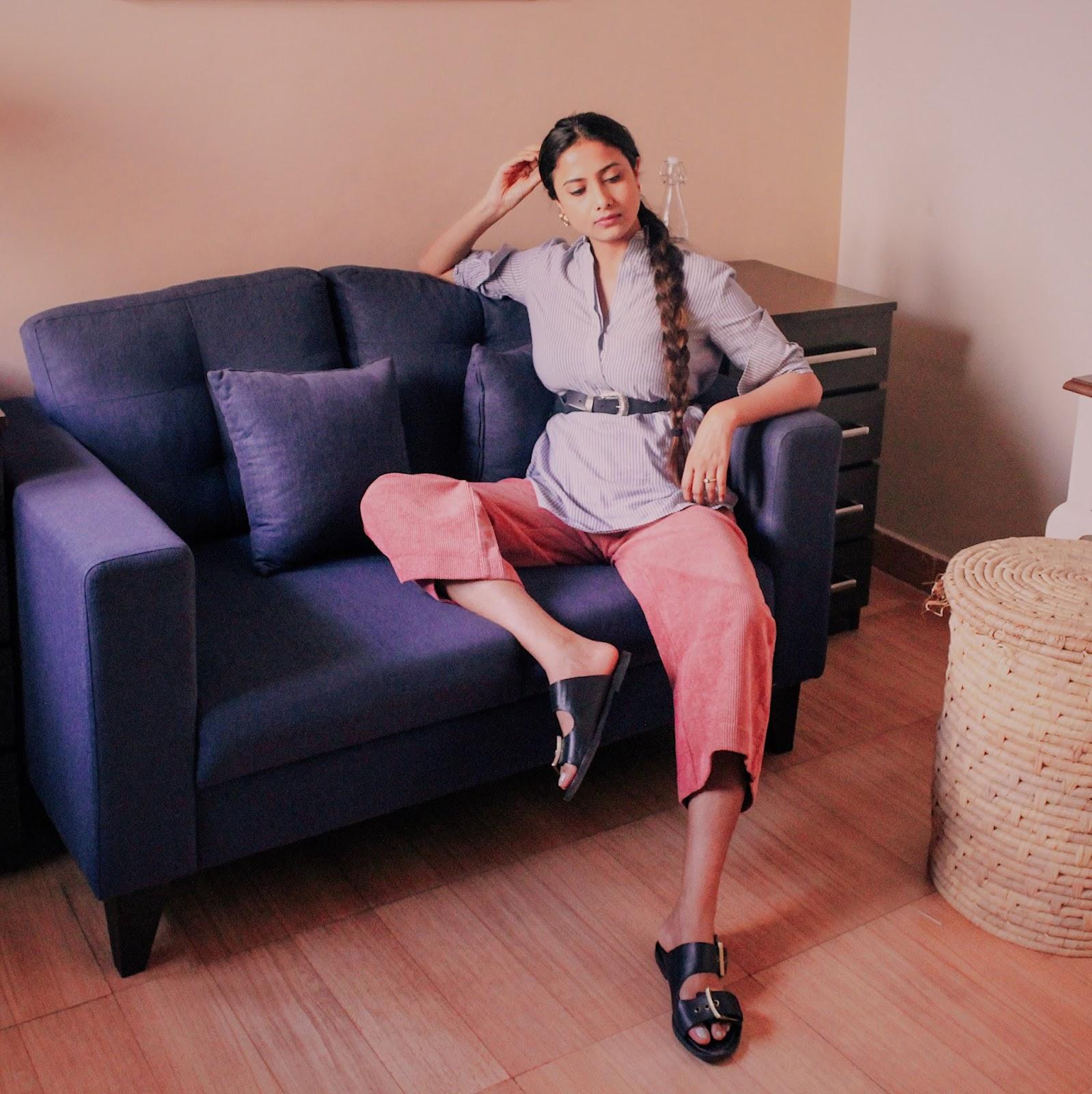 why emotional honesty is important, uk blog, london blog, indian blog, pink, pink corduroy trouser, effortless chic, british style, belt on waist, spring 2018, trend ss18,