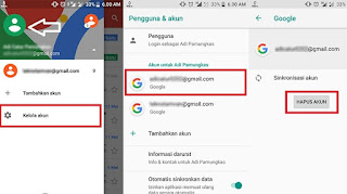 Cara Logout / Keluar dari Akun Gmail di HP Android, Menghapus akun gmail di Android