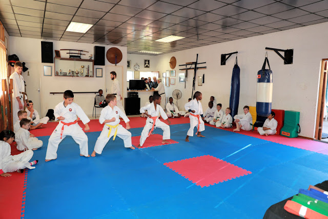 Students learning self-defense karate classes (Kempton Park)