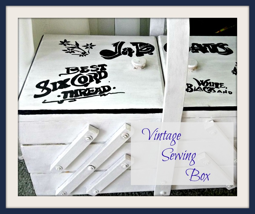 Vintage, Paint and more... thrifted vintage sewing box given an updated look