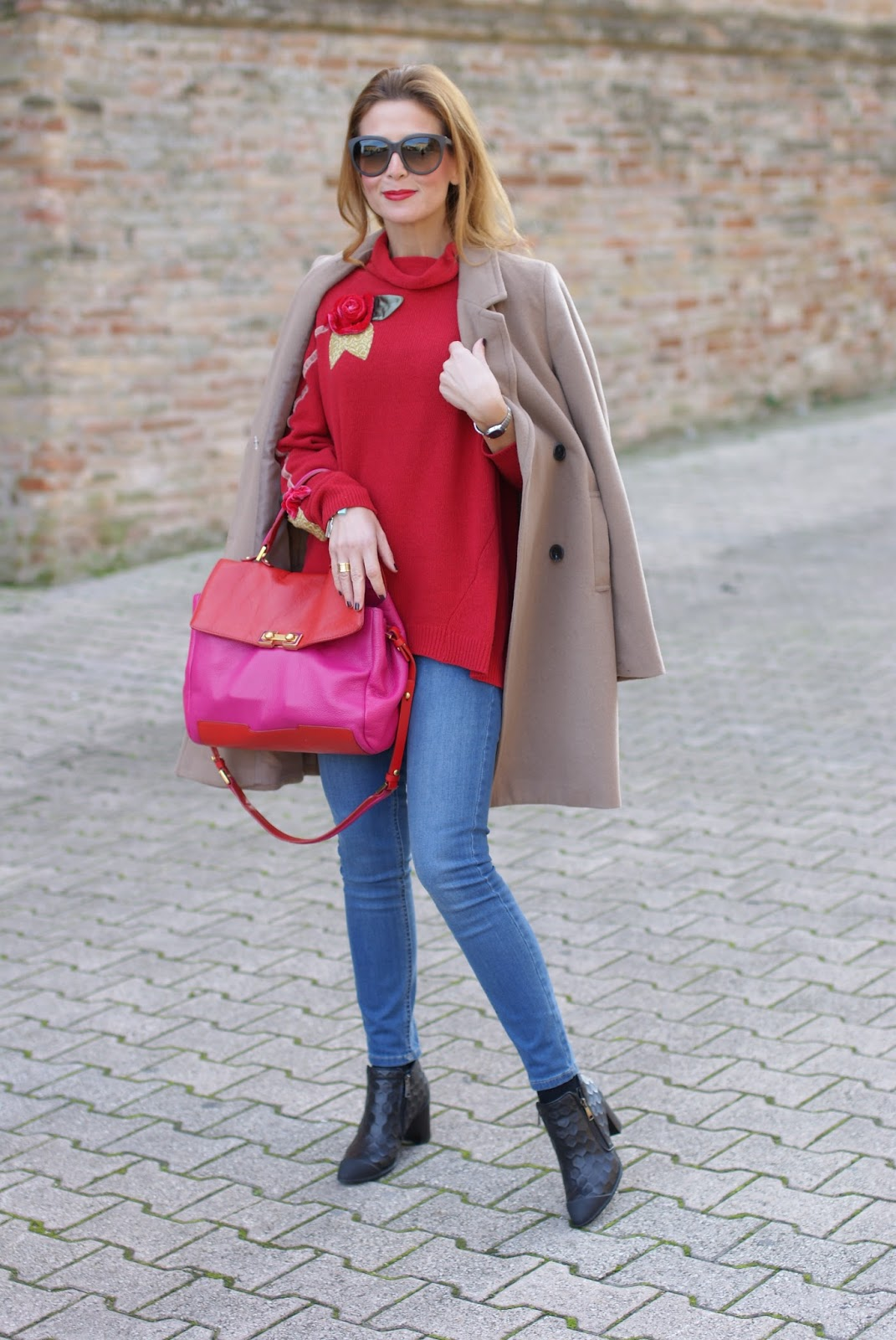 Kiabi Camel boyfriend coat and roberto botticelli shoes on Fashion and Cookies fashion blog, fashion blogger style