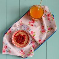Porridge de framboesas