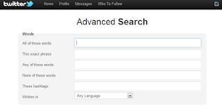 use advance twitter search