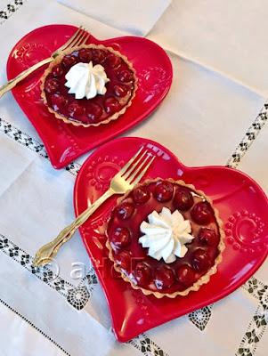Cherry Custard Tarts