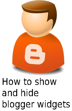 How to Show and Hide Blogger Widgets