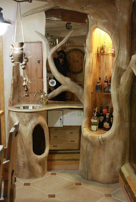 15 Traditional & Rustic Warm Interior Wood Decorating ... on Traditional Rustic Decor  id=70792