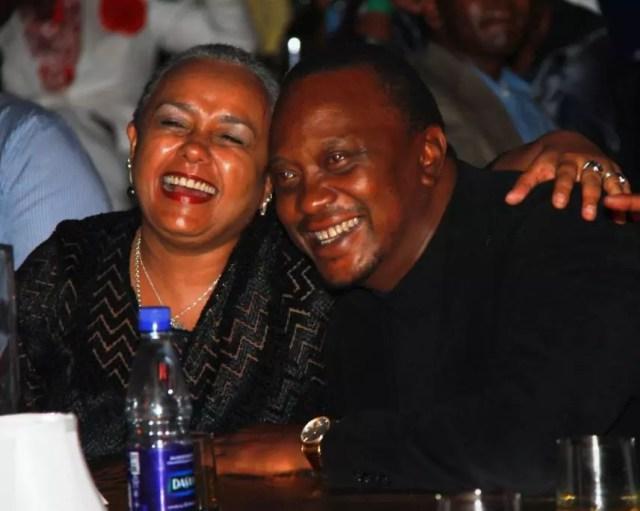 President Kenyatta and wife