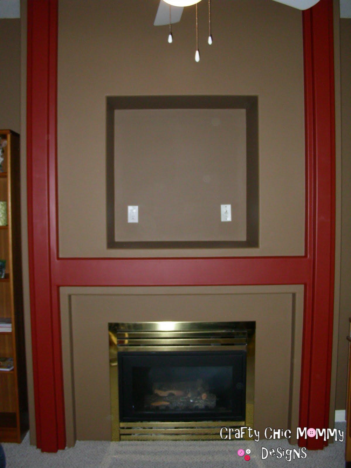 Crafty Chic Mommy Brass Fireplace Redo