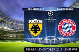 Siaran Langsung AEK Athens vs Bayern Munchen 23 Oktober 2018