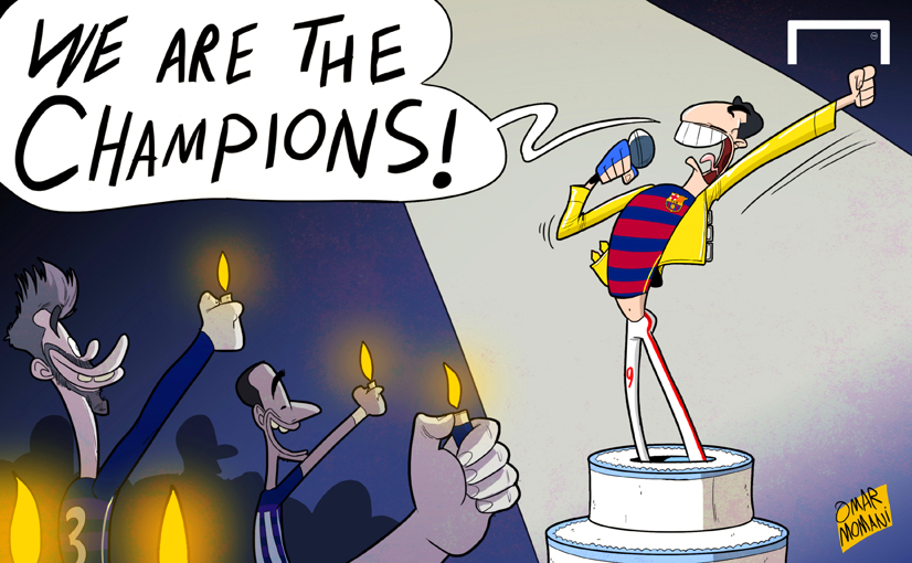 Omar Momani cartoons: We are the champions! Hat-trick hero ...