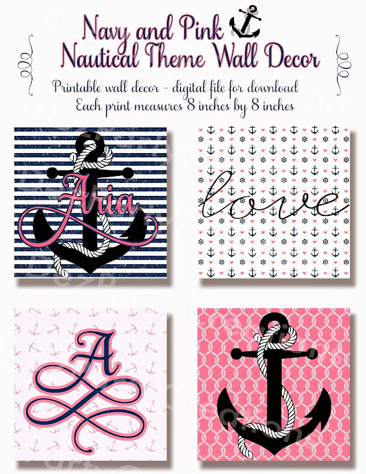 Nautical Themed Nursery prints