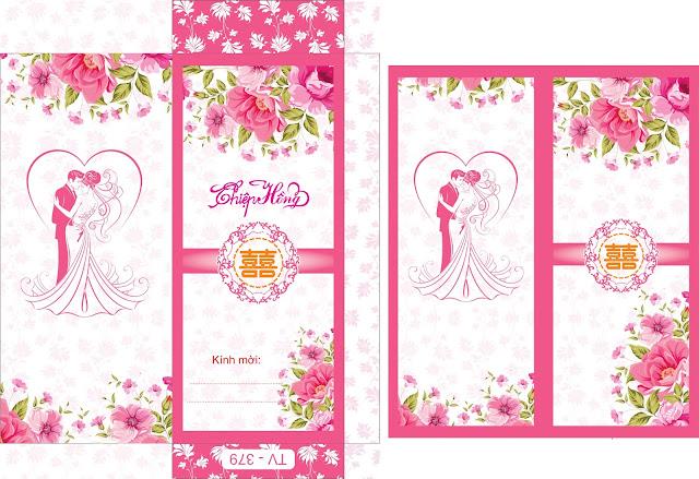 Vector Thiết Kế Thiệp cưới – Phôi Thiệp cưới giá rẻ.