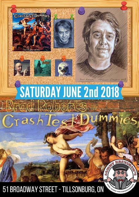 Crash Test Dummies: Brad Roberts Concert Poster Includes Portraits by Travis Simpkins
