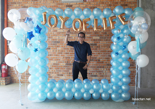 At the launch of 'The Joy Of Life' Collagen Bird's Nest Beverage