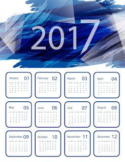 2017カレンダー無料テンプレート217