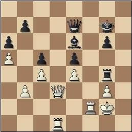 Partida de ajedrez Medina - Alekhine, posición después de 45…Tg4
