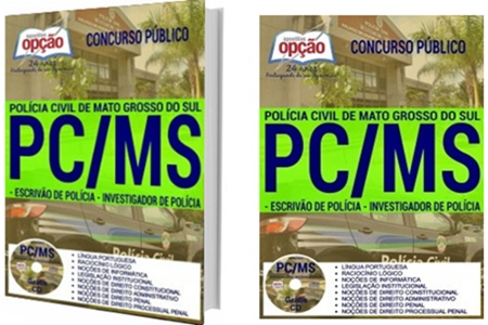 Apostila concurso Polícia Civil MS 2017 Escrivão e Investigador