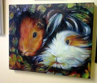guinea pig pet oil portrait commission sue gardner uk