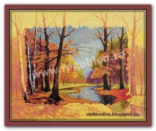 """Скачать схему вышивки Rogoblen 5.53 """"Autumn Souvenir"""""""