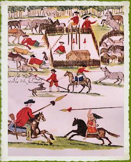 Fuerte español contra los indios en Pergamino,   dibujo de Florián Paucke, S.J.
